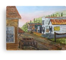 Gold Rush Ghost Town Canvas Print