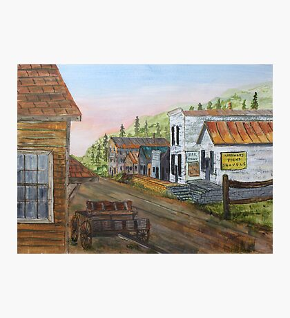 Gold Rush Ghost Town Photographic Print