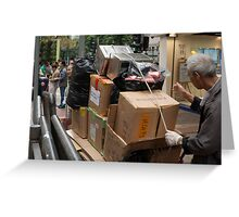 The Garbage Man can Greeting Card