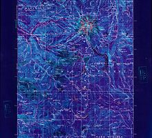 USGS Topo Map Oregon Mount Hood 283227 1927 125000 Inverted by wetdryvac