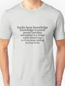 books have knowledge T-Shirt