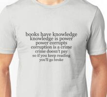 books have knowledge Unisex T-Shirt