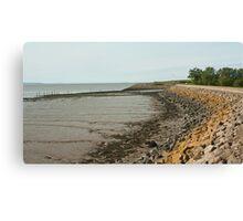 Sea wall - Newport Canvas Print