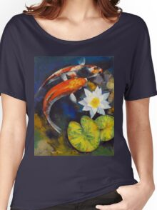 Koi Fish and Water Lily Women's Relaxed Fit T-Shirt