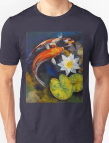 Koi Fish and Water Lily Unisex T-Shirt