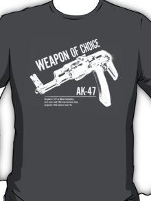 'Weapon of Choice - AK47' - White Logo T-Shirt