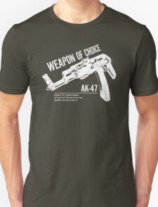 'Weapon of Choice - AK47' - White Logo Unisex T-Shirt