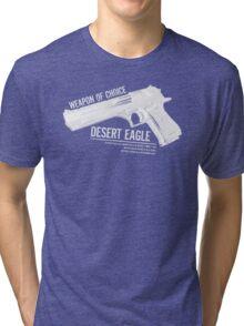 'Weapon of Choice - Desert Eagle' - White Logo Tri-blend T-Shirt