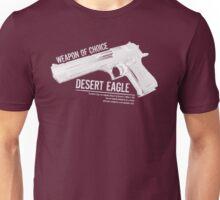 'Weapon of Choice - Desert Eagle' - White Logo Unisex T-Shirt