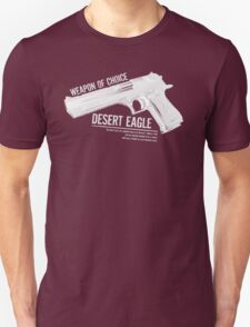 'Weapon of Choice - Desert Eagle' - White Logo T-Shirt