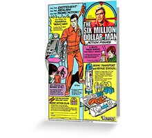 RETRO 1970's Six Million Dollar Man Action Figure Toy Advertisement Greeting Card