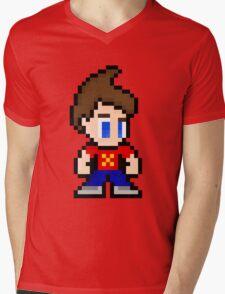 8-Bit Jimmy Neutron Mens V-Neck T-Shirt