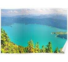 Turquoise Lake. Germany. Poster