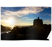 Sitting down for the sunrise - Ucluelet, British Columbia Poster