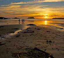 Heart shaped sunset - Tofino, British Columbia by Phil McComiskey