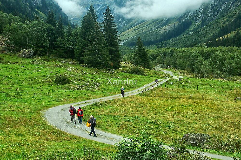 Trekking In Tirol by Xandru