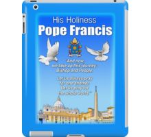 His Holiness Pope Francis 2015t-prayer card with doves/vatican 1 iPad Case/Skin