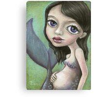 Pregnant mermaid Canvas Print