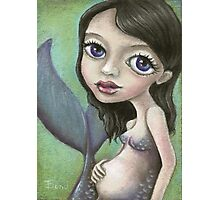 Pregnant mermaid Photographic Print