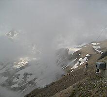 Hidden by Clouds - Mt. Shilthorn, CH by Danielle Ducrest