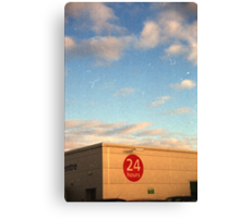 24 Hour Shopping Canvas Print