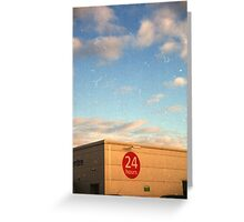 24 Hour Shopping Greeting Card