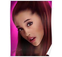 Ariana Grande Watercolor Portrait Poster