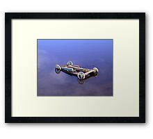 Little Old Carriage in the Lagoon Framed Print