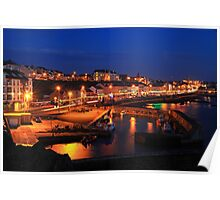 The colour of Portstewart seaside town at Night.  Poster