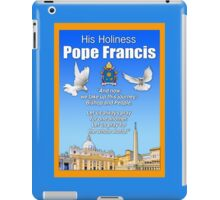 His Holiness Pope Francis 2015t-prayer card with doves/vatican 3 iPad Case/Skin