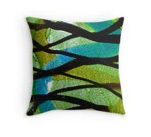 Fused Glass Throw Pillow