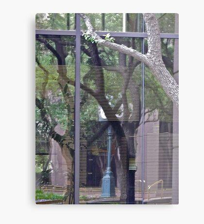 100 South Congress - Window Reflection - Downtown - Austin Texas Series - 2011 Metal Print