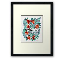 Killin' It – Tropical Red & Green Framed Print
