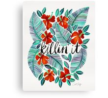 Killin' It – Tropical Red & Green Canvas Print
