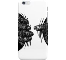 Great Ape hand Squeezing iPhone Case/Skin
