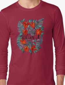 Killin' It – Tropical Red & Green Long Sleeve T-Shirt