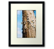 Can I Have your Number? Framed Print