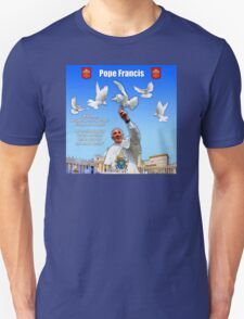 His Holiness Pope Francis 2015-prayer card version 2 T-Shirt