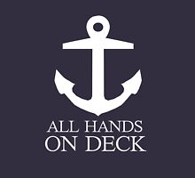 Anchor pirate all hands on deck Unisex T-Shirt
