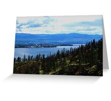 Kelowna on Lake Okanagan Greeting Card