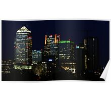 Canary Wharf by Night Poster