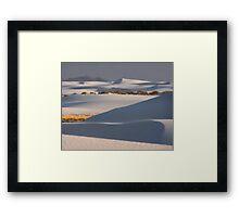 Shadows At White Sands Framed Print