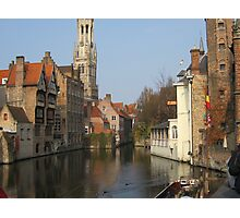 A Canal in Bruges Photographic Print