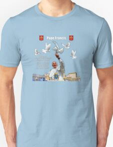 His Holiness Pope Francis 2015-prayer card with doves version 3 T-Shirt