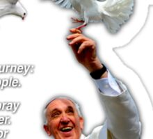 His Holiness Pope Francis 2015-prayer card with doves version 3 Sticker