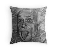 Einstein with Citrus Slices Throw Pillow