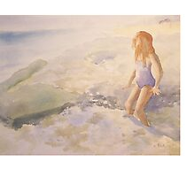 My little girl in the surf Photographic Print
