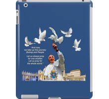His Holiness Pope Francis 2015-prayer card no heading version 2 iPad Case/Skin
