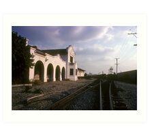 A Rail's Eye View of Whittier's Ghost Station Art Print