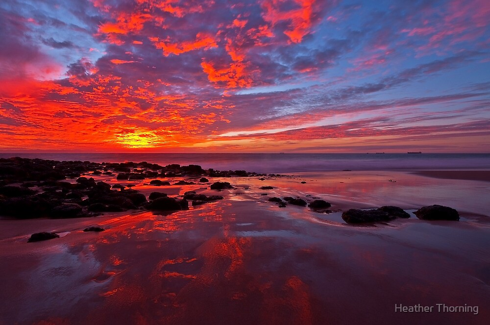 """""""Fiery Sunset"""" by Heather Thorning"""